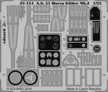 A.S. 51 Horsa Glider Mk.I [Bronco Models] · EDU 33154 ·  Eduard · 1:35