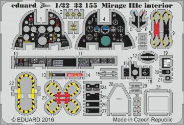 Mirage IIIc - Interior [Italeri] · EDU 33155 ·  Eduard · 1:32