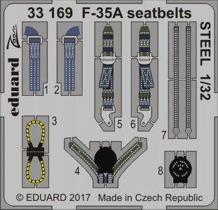 Lockheed F-35A Lightning II - Seatbelts STEEL [Italeri] · EDU 33169 ·  Eduard · 1:32