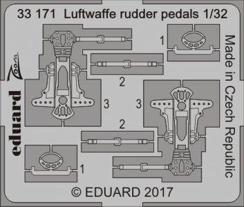 Luftwaffe - Rudder pedals · EDU 33171 ·  Eduard · 1:32