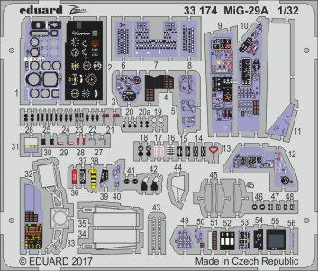 Russian MIG-29A Fulcrum [Trumpeter] · EDU 33174 ·  Eduard · 1:32