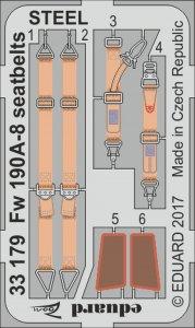 Focke Wulf Fw 190 A-8 - Seatbelts STEEL [Revell] · EDU 33179 ·  Eduard · 1:32