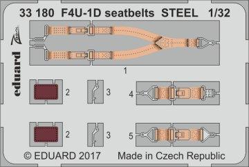 US Vought F4U-1D Corsair - Seatbelts STEEL [Tamiya] · EDU 33180 ·  Eduard · 1:32