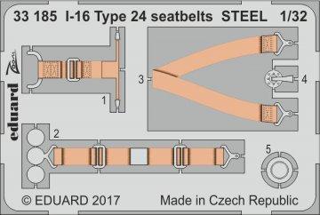 I-16 Type 24 - Seatbets STEEL [ICM] · EDU 33185 ·  Eduard · 1:32