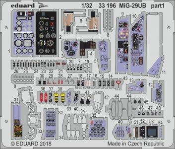 Russian MIG-29UB Fulcrum [Trumpeter] · EDU 33196 ·  Eduard · 1:35