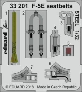 F-5E Tiger II - Seatbelts STEEL [Kitty Hawk] · EDU 33201 ·  Eduard · 1:32