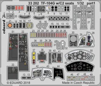 Starfighter TF-104G -  C2 seats  [Italeri] · EDU 33202 ·  Eduard · 1:32