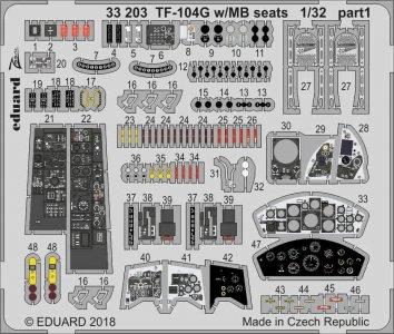 Starfighter TF-104G - MB seats [Italeri] · EDU 33203 ·  Eduard · 1:32