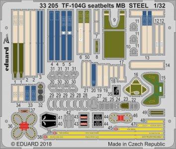 Starfighter TF-104G - Seatbelts MB STEEL [Italeri] · EDU 33205 ·  Eduard · 1:32