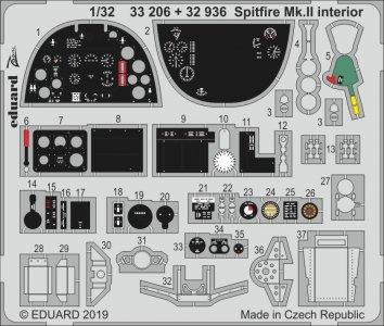 Spitfire Mk.II - Interior [Revell] · EDU 33206 ·  Eduard · 1:32