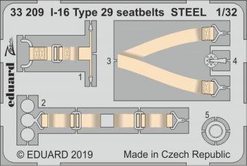 I-16 Type 29 - Seatbelts STEEL [ICM] · EDU 33209 ·  Eduard · 1:32