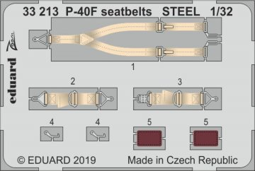 P-40F War Hawk - Seatbelts STEEL [Trumpeter] · EDU 33213 ·  Eduard · 1:32