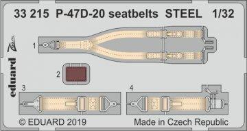 P-47 D-20 - Seatbelts STEEL [Trumpeter] · EDU 33215 ·  Eduard · 1:32