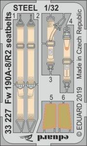 Focke Wulf Fw 190 A-8/R2 - Seatbelts STEEL [Revell] · EDU 33227 ·  Eduard · 1:32