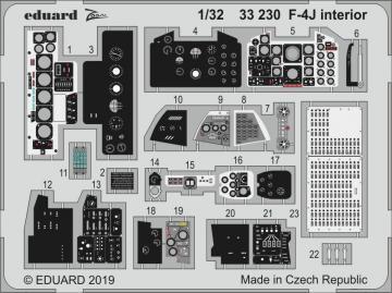F-4J - Interior [Tamiya] · EDU 33230 ·  Eduard · 1:32