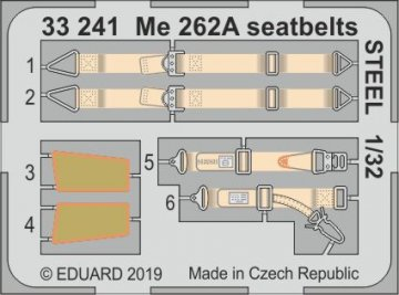Messerschmitt Me 262A - Seatbelts STEEL [Revell] · EDU 33241 ·  Eduard · 1:32