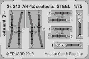 AH-1Z - Seatbelts STEEL [Academy] · EDU 33243 ·  Eduard · 1:32