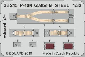 P-40N War Hawk - Seatbelts STEEL [Trumpeter] · EDU 33245 ·  Eduard · 1:32