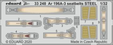 Arado Ar 196 A-3 - Seatbelts STEEL [Revell] · EDU 33248 ·  Eduard · 1:32