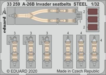 A-26B Invader - Seatbelts STEEL [HobbyBoss] · EDU 33259 ·  Eduard · 1:32