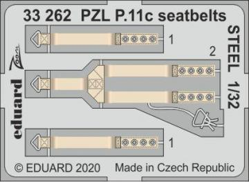 PZL P.11c - Seatbelts STEEL [IBG] · EDU 33262 ·  Eduard · 1:32