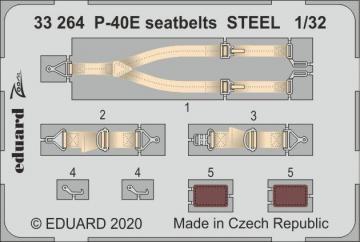 P-40E War Hawk - Seatbelts STEEL [Trumpeter] · EDU 33264 ·  Eduard · 1:32
