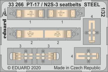 Stearman PT-17 / N2S-3 - Seatbelts STEEL [ICM] · EDU 33266 ·  Eduard · 1:32