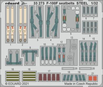 F-100F - Seatbelts STEEL [Eduard] · EDU 33273 ·  Eduard · 1:32