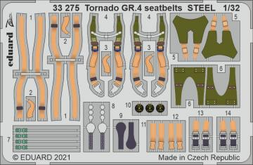 Tornado GR.4 - Seatbelts STEEL [Italeri] · EDU 33275 ·  Eduard · 1:32