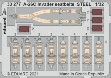A-26C Invader - Seatbelts STEEL [HobbyBoss] · EDU 33277 ·  Eduard · 1:32