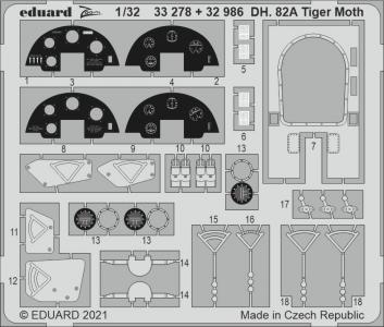 DH. 82A Tiger Moth [ICM] · EDU 33278 ·  Eduard · 1:32