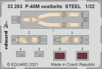 P-40M War Hawk - Seatbelts STEEL [Trumpeter] · EDU 33283 ·  Eduard · 1:32