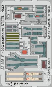 F-100C Super Sabre - Seatbelts STEEL [Trumpeter] · EDU 33285 ·  Eduard · 1:32