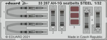 AH-1G Cobra - Seatbelts STEEL [ICM] · EDU 33287 ·  Eduard · 1:32