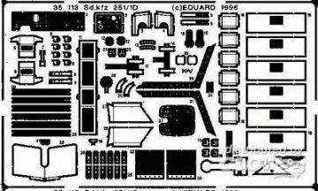 Sd.Kfz. 251/1 Ausf. D · EDU 35113 ·  Eduard · 1:35