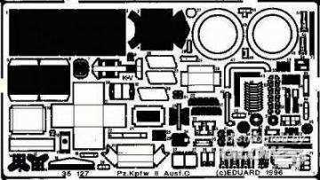 Pz.Kpfwg. II Ausf. C Detailbausatz Außen · EDU 35127 ·  Eduard · 1:35