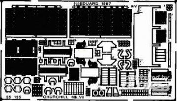 Churchill Mk.VII · EDU 35135 ·  Eduard · 1:35