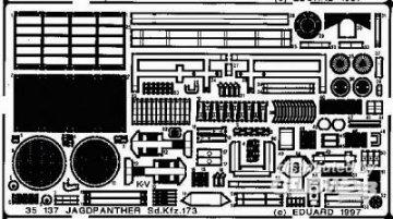 Jagdpanther Sd.Kfz 173 · EDU 35137 ·  Eduard · 1:35