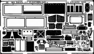 Sd.kfz 7/1 Flakvierling · EDU 35183 ·  Eduard · 1:35