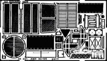 AMX 30/105 · EDU 35221 ·  Eduard · 1:35