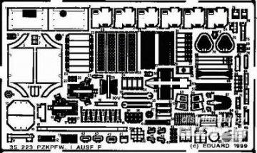 PzKpfw I Ausf.F Detailbausatz · EDU 35223 ·  Eduard · 1:35