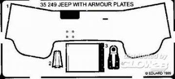 Willys Jeep Detailbausatz Panzerrung · EDU 35249 ·  Eduard · 1:35