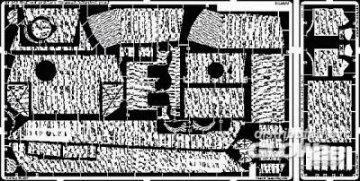Pz.V Panther G Late - Zimmerit 1. vertical [Tamiya] · EDU 35373 ·  Eduard · 1:35
