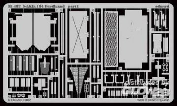 Sd.Kfz.184 Ferdinand Fotoätzsatz · EDU 35462 ·  Eduard · 1:35