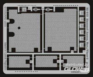 Hummel frühe Version Kiste Bodenplatte 2 Fotoätzsatz · EDU 35612 ·  Eduard · 1:35