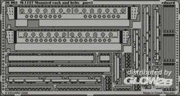 M-1127 - Mounted rack and belts [Trumpeter] · EDU 36063 ·  Eduard · 1:35