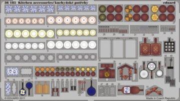 Kitchen accessories - colour · EDU 36185 ·  Eduard · 1:35