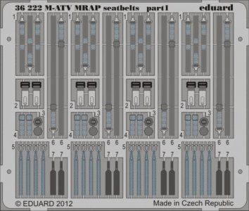 M-ATV MRAP - Seatbelts [Kinetic] · EDU 36222 ·  Eduard · 1:35