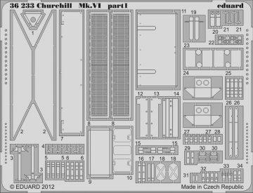 Churchill Mk.VI [AFV-Club] · EDU 36233 ·  Eduard · 1:35