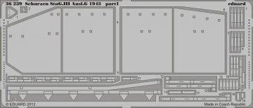 Schürzen StuG.III Ausf.G 1943 [Cyber Hobby] · EDU 36239 ·  Eduard · 1:35